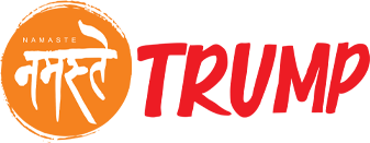 Namaste Trump Logo